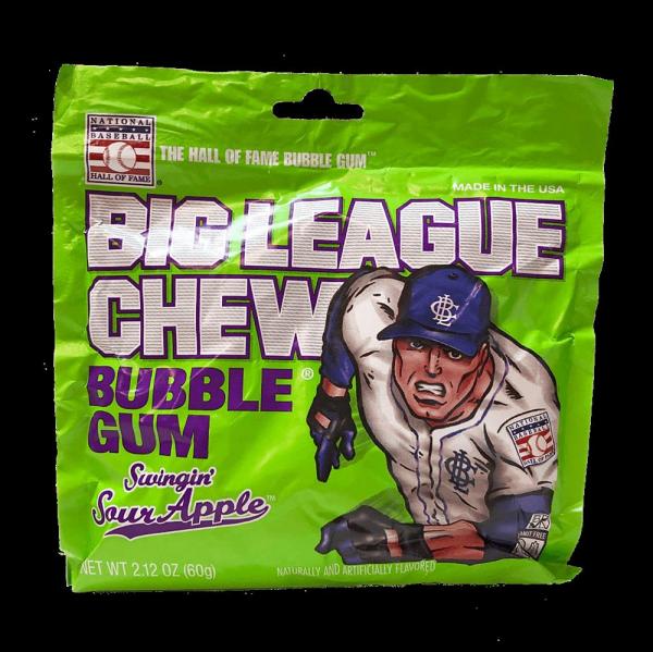 Big League Chew Bubble Gum Swingin Sour Apple 60g