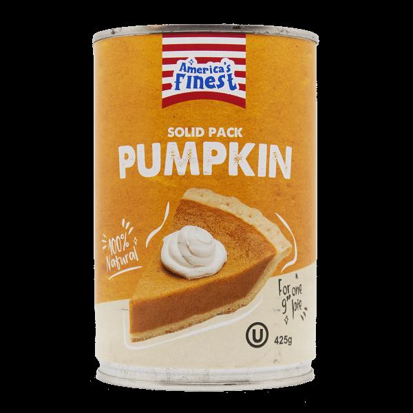America's Finest Solid Pumpkin 425g