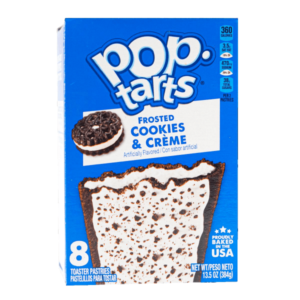 Pop Tarts Frosted Cookies & Cream 8er Pack 384g