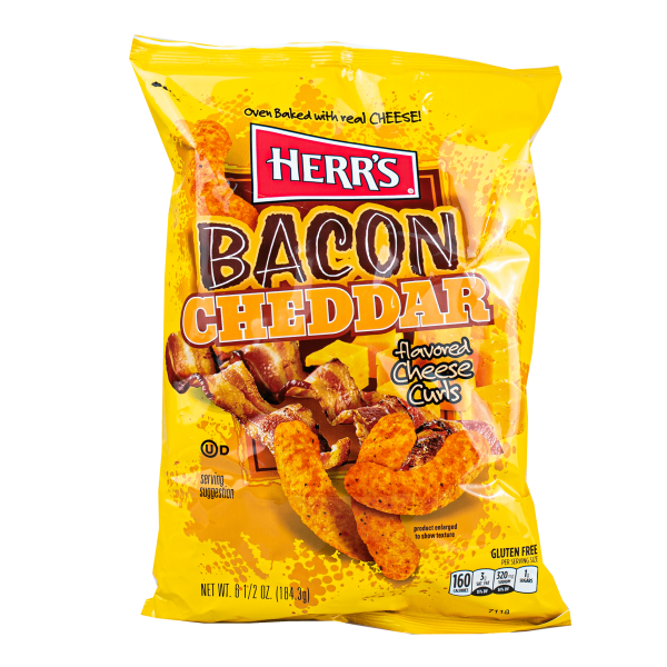 Herr´s Bacon Cheddar flavored Cheese Curls 184g