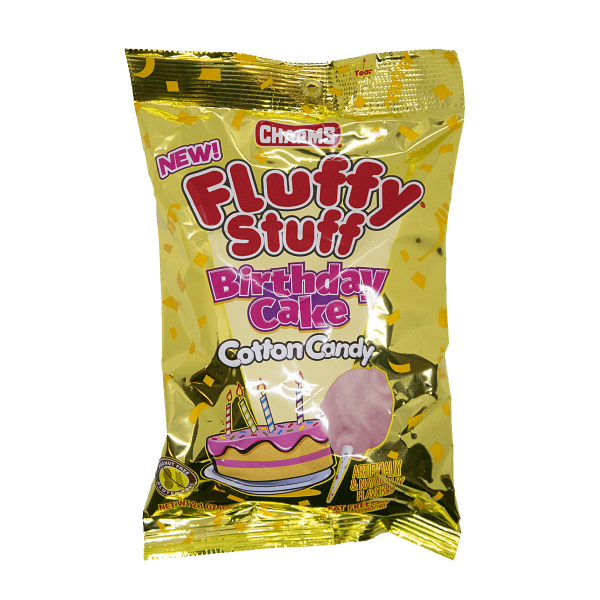 Charms Fluffy Stuff Birthday Cake Cotton Candy 60g