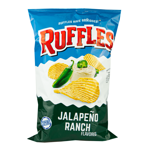 Ruffles Jalapeño Ranch Potato Chips 184g