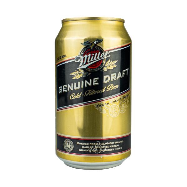 Miller Genuine Draft Cold-Filtered Beer 355ml