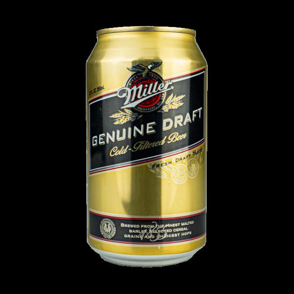 Miller Genuine Draft Cold-Filtered Beer 355ml