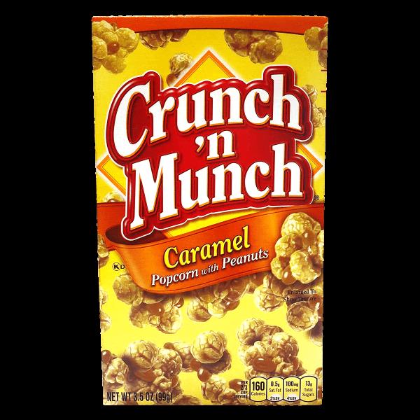 Crunch ´n Munch Caramel Popcorn with Peanuts 99g