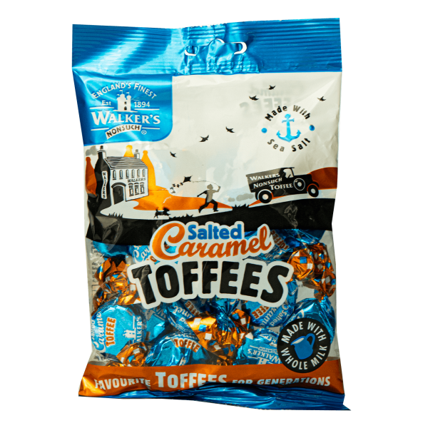 Walker´s Nonsuch Salted Caramel Toffees 150g