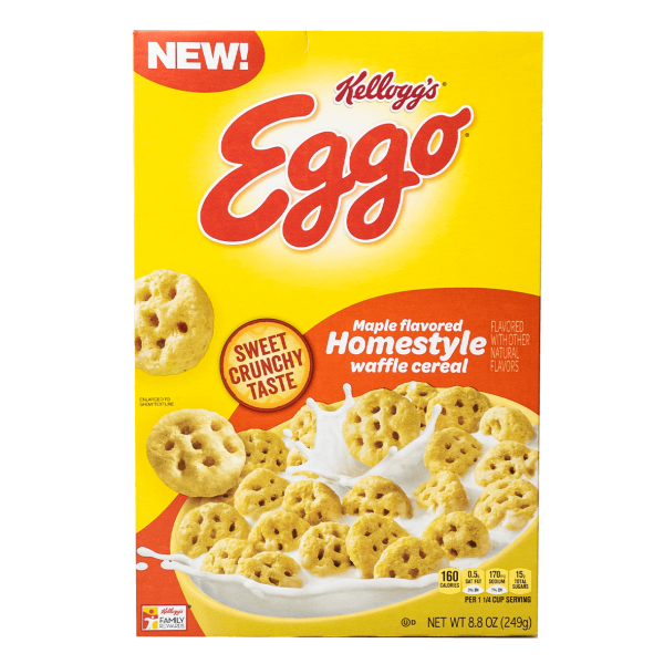 Kellogg´s Eggo Maple flavored Homestyle Waffle Cereals 249g
