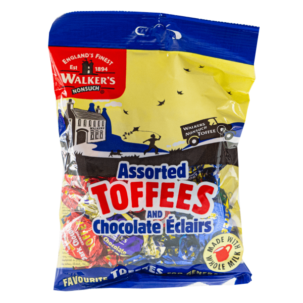 Walker´s Nonsuch Assorted Toffees and Chocolate Eclairs 150g