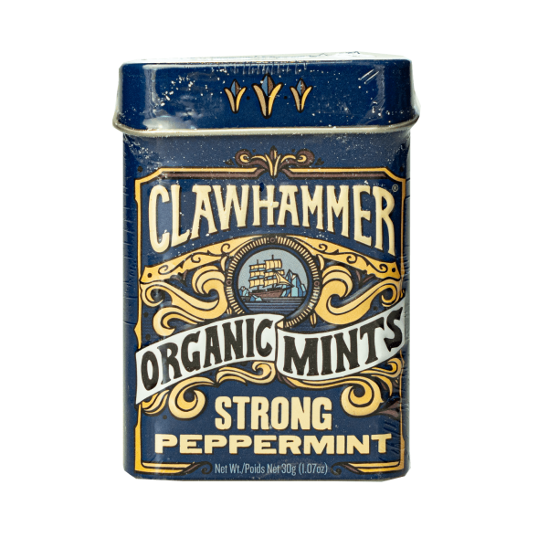 Clawhammer Organic Mints Strong Peppermint 30g