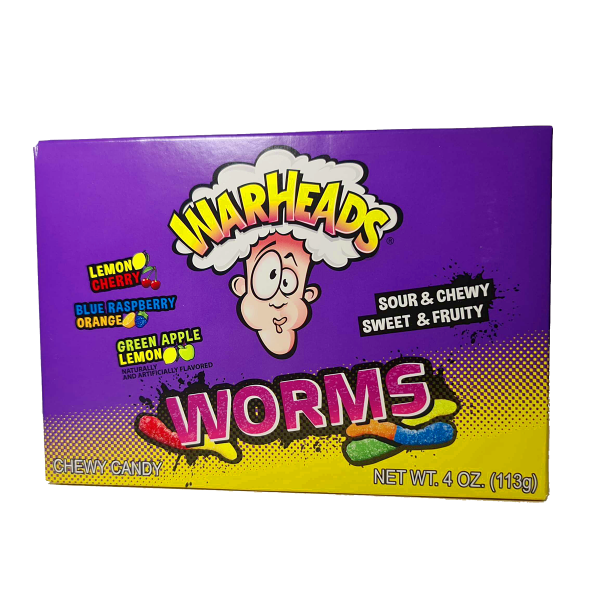 Warheads Chewy Candy Worms 113g