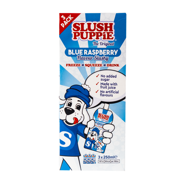 Slush Puppie Blue Raspberry Flavour Slushy 3x250ml