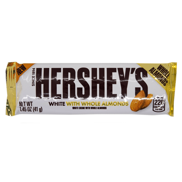 Hershey´s White with whole Almonds 41g