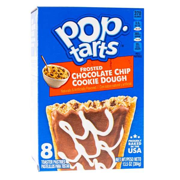 Pop Tarts Frosted Chocolate Chip Cookie Dough 8er Pack 416g