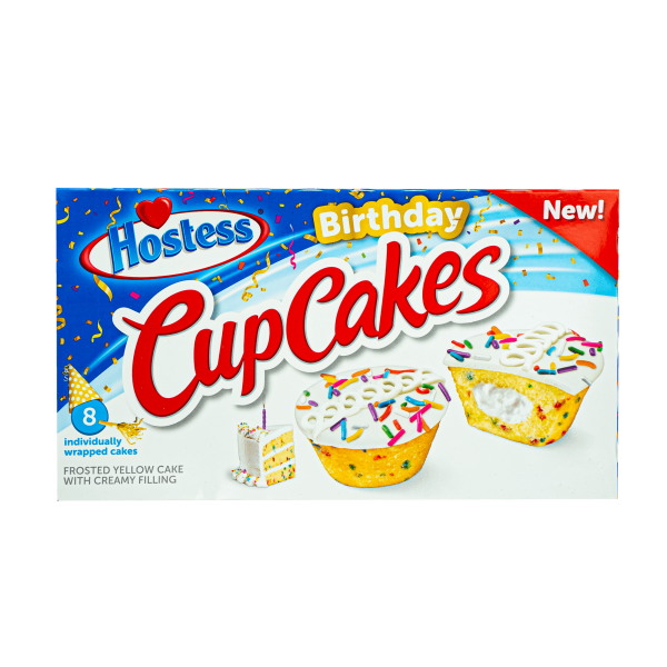 Hostess Birthday Cup Cakes 371g