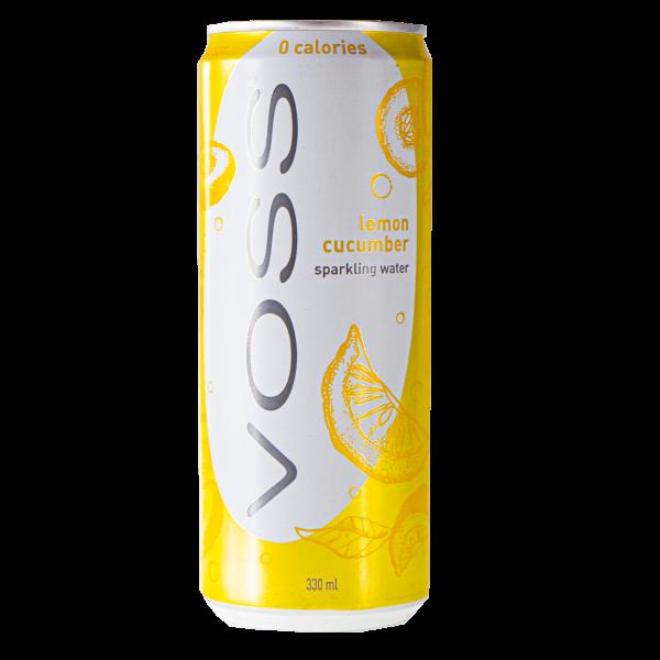 Voss Sparkling Water Lemon Cucumber Dose 330ml